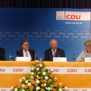 Dr. Schäuble beim Parteitag der CDU Rheinisch-Bergischer Kreis in Overath.