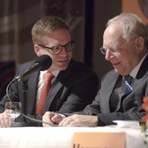 Bundesminister Schäuble in Besigheim.