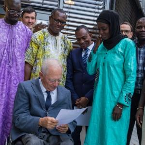 Afrikanische Delegation an der Hochschule Kehl