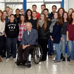 Finanzminister Dr. Schäuble am Einstein-Gymnasium in Kehl.